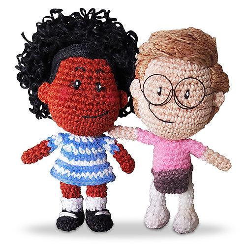 Bonecos Sofia e Otto (Amigurumi)