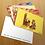 Thumbnail: Kit com 1 adesivo, 1 marcador de página e 5 postais