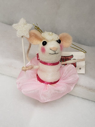 Ballerina Mouse Ornament