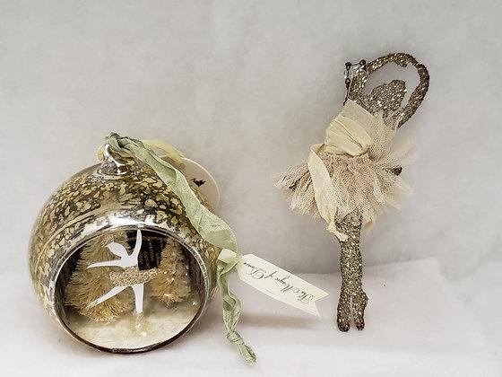 Gold Gilded Ballerina Ornament