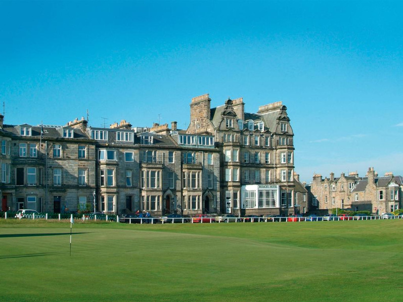 Rusacks Hotel, adjacent to the 18th hole on the Old Course