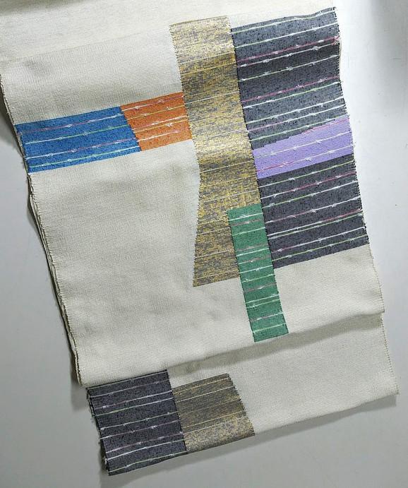 織成九寸名古屋帯完成しました。