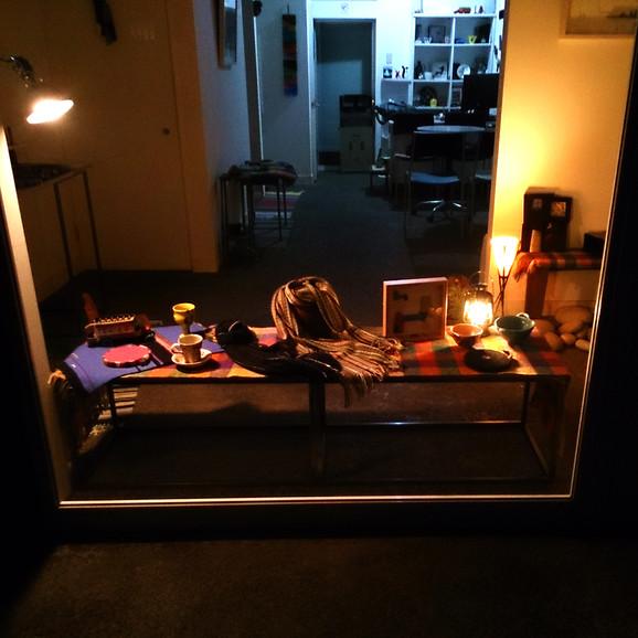 夜の展示室