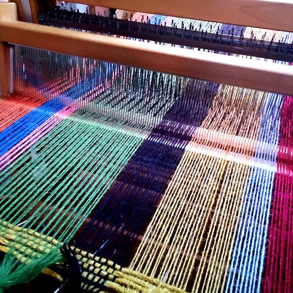 紡毛糸平織幅広