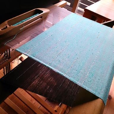 織機のミントスカーフ