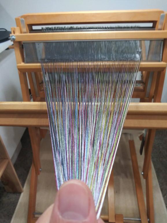 たて糸巻き作業