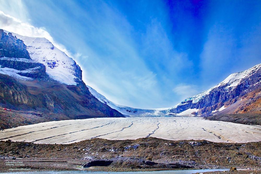 Columbia Glacier, Icefields Parkway, Alberta, Canada