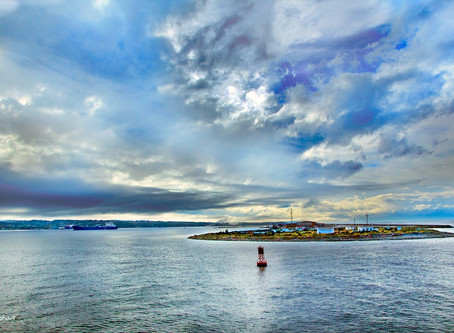 Victoria, BC to Port Angeles, US:  Ghosts on the Waterfront and Cloud Capture on the Juan de Fuca St