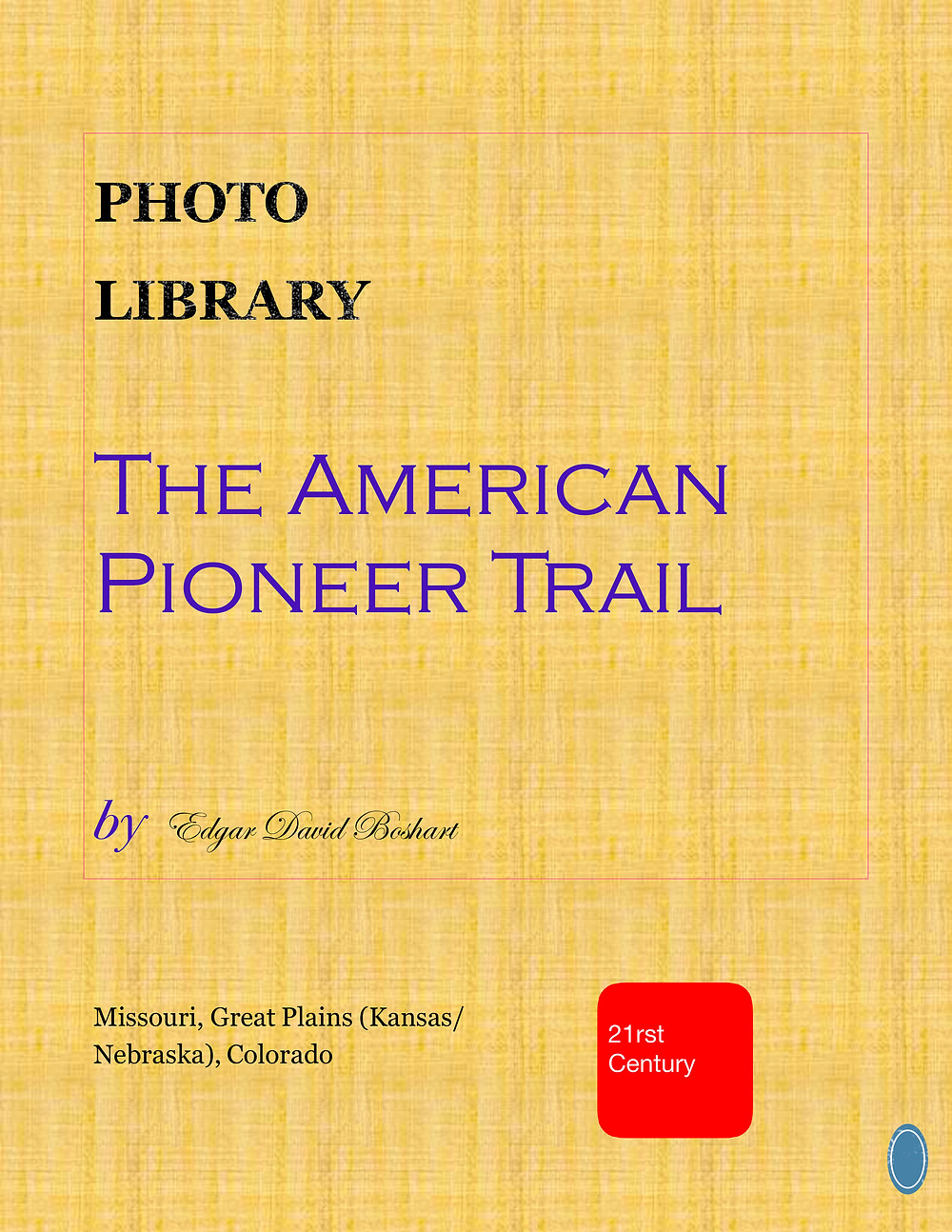 Cover to The American Pioneer Trail