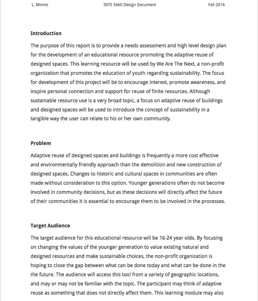 Adaptive Reuse Needs Assessment