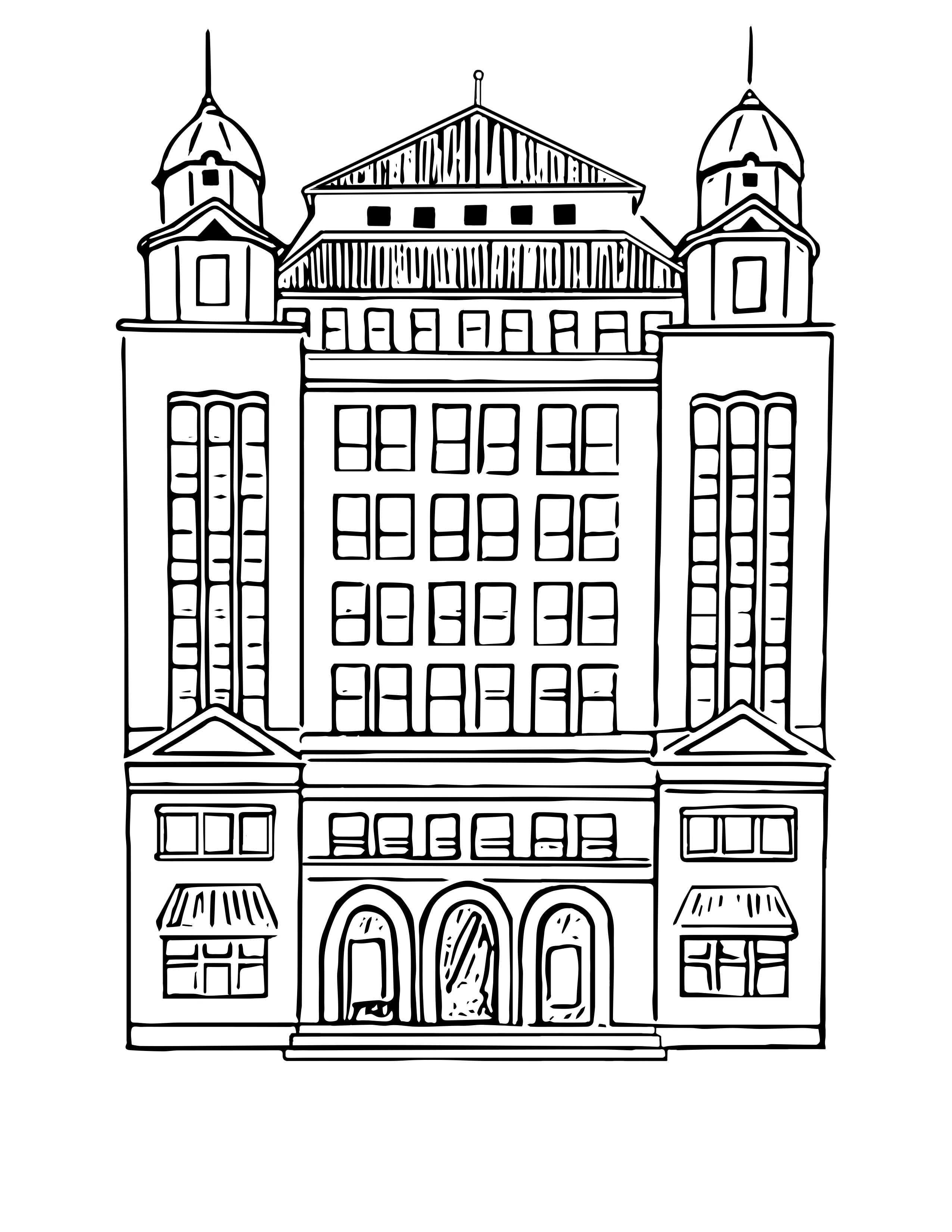 digital coloring page