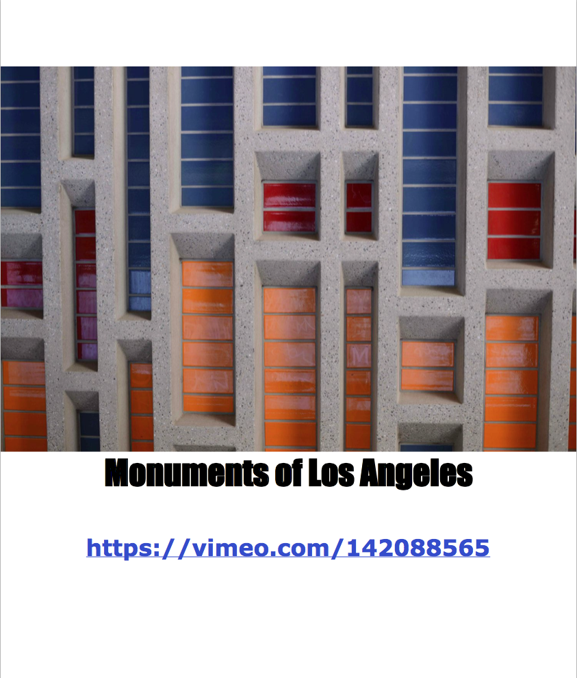 Monuments of Los Angeles Design Doc