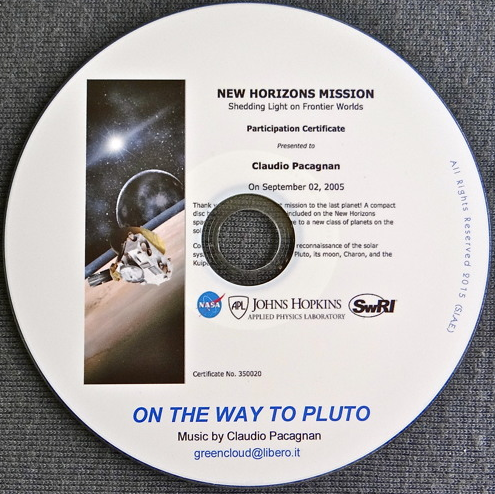 """On The Way To Pluto  On The Way To Pluto - (4 July 2015)  On September 2, 2005, I had the pleasure to join the NASA New Horizons Mission. This composition is my """"journey"""" to Pluto, a musical image of space; a tribute to Clyde Tombaugh who discovered Pluto in 1930, and to NASA's New Horizons Mission staff."""