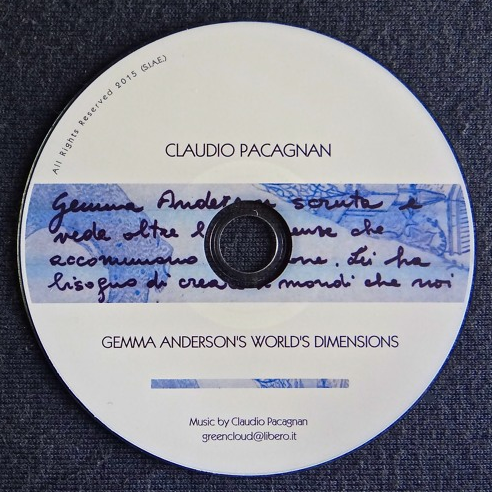 Gemma Anderson's World's Dimensions  Music inspired by the artwork of Gemma Anderson (CD – May 2015)