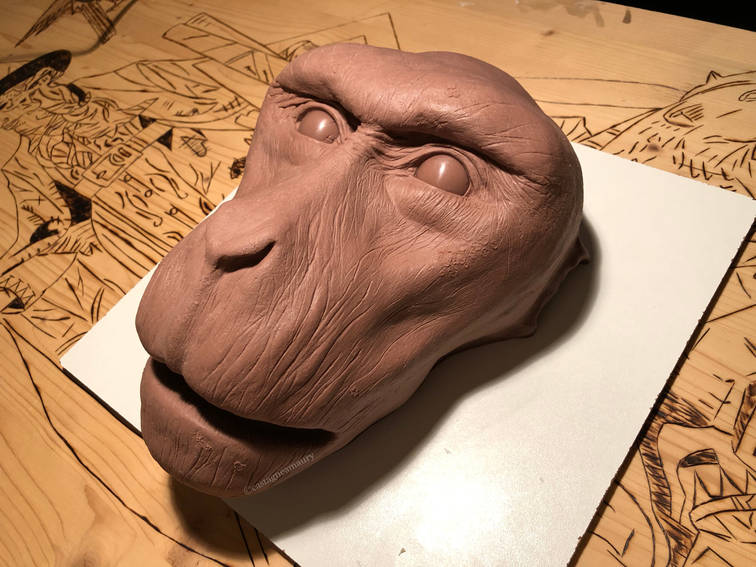 monster-clay-sculpture-snow-monkey-casta