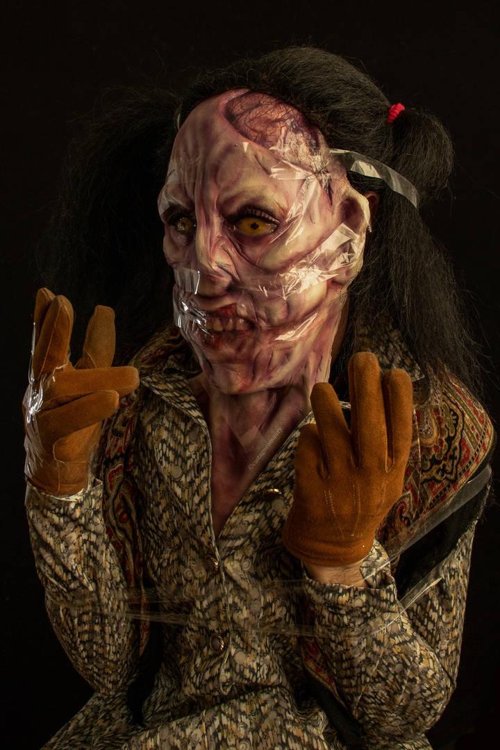 creepy-latex-mask-tape-face-lady-wig-cas