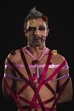 make-up-editorial-shibari-flower-ribbons