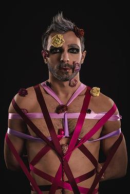 make-up-editorial-shibari-flower-ribbons