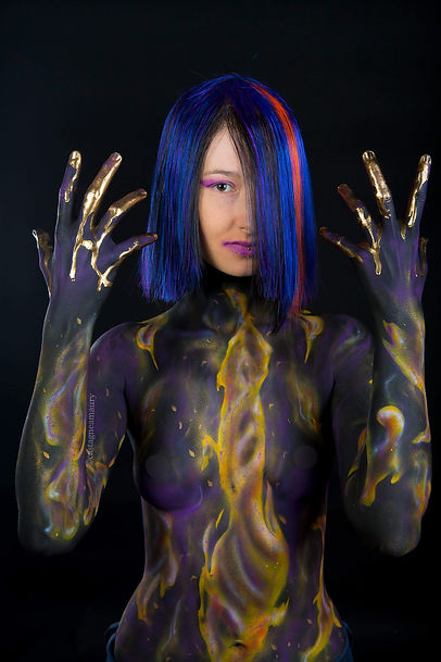 wig-modacryl-body-painting-make-up-airbr
