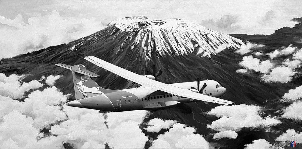 ATR-72 over Kilimandjaro