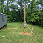 Temporary Power Pole