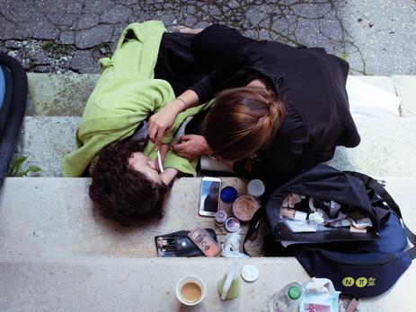 Maske, Makeup und Kostüm