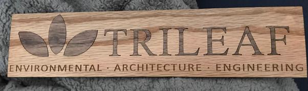 Trileaf Inlaid Sign | 2018