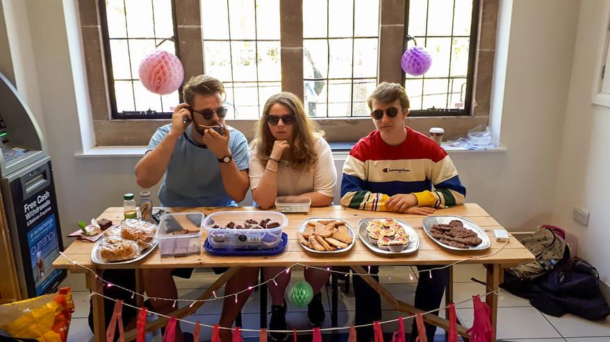 Oscar on a cake table_.jpg