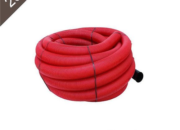 Gaine Tpc Rouge Ø 90mm X 25 Mètres avec tire-fil