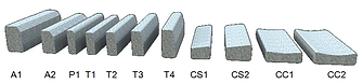 bordures de type A T P CS CC
