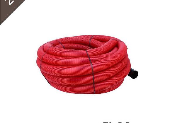 Gaine Tpc Rouge Ø 63mm X 25 Mètres avec tire-fil
