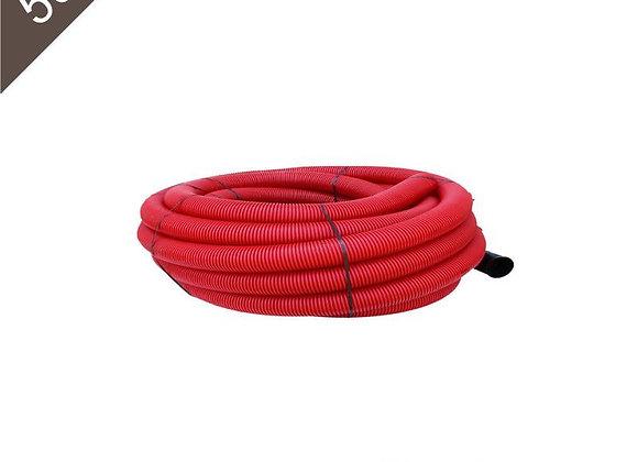 Gaine Tpc Rouge Ø 40mm X 50 Mètres avec tire-fil