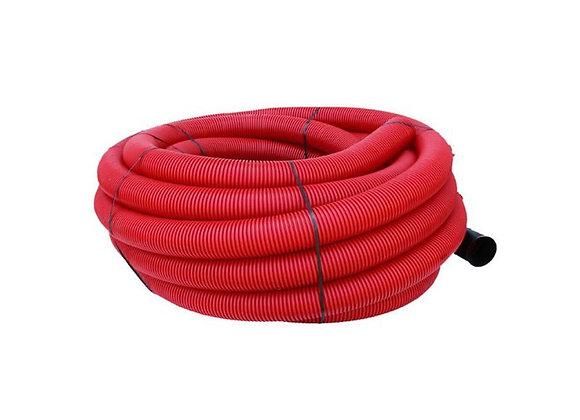 Gaine Tpc Rouge Ø 90mm X 50 Mètres avec tire-fil
