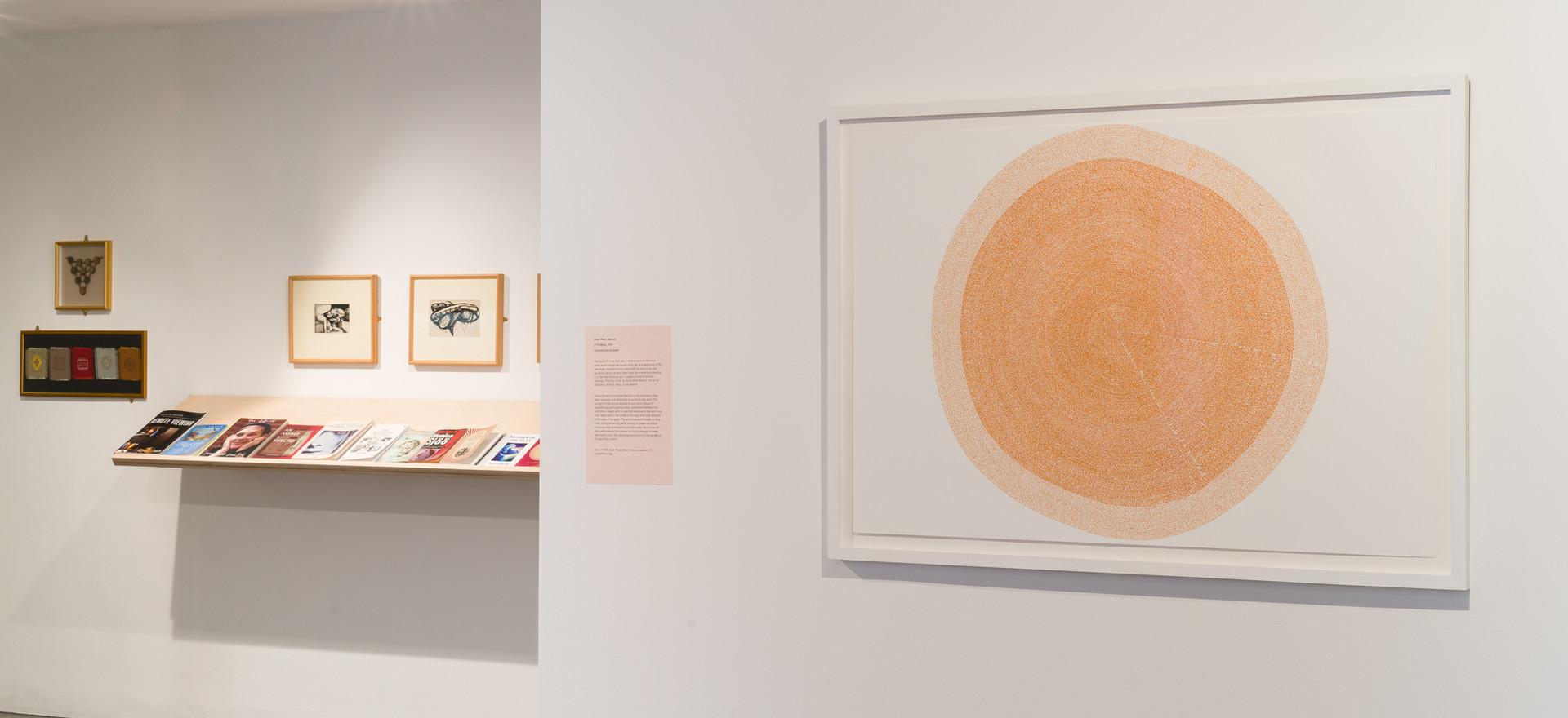 Exhibition installation view, Hummadruz, Newlyn Art Gallery (2018), Marie (2014)
