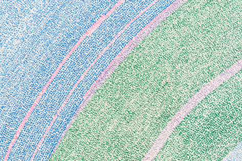 4/4, past, past and past again (detail), coloured pen on paper (2017)