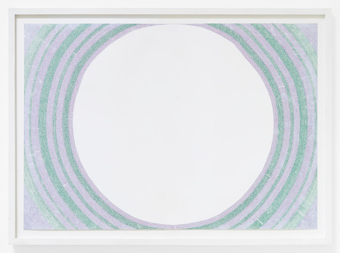 outline (imagine/letting go), coloured pen on paper (2018)