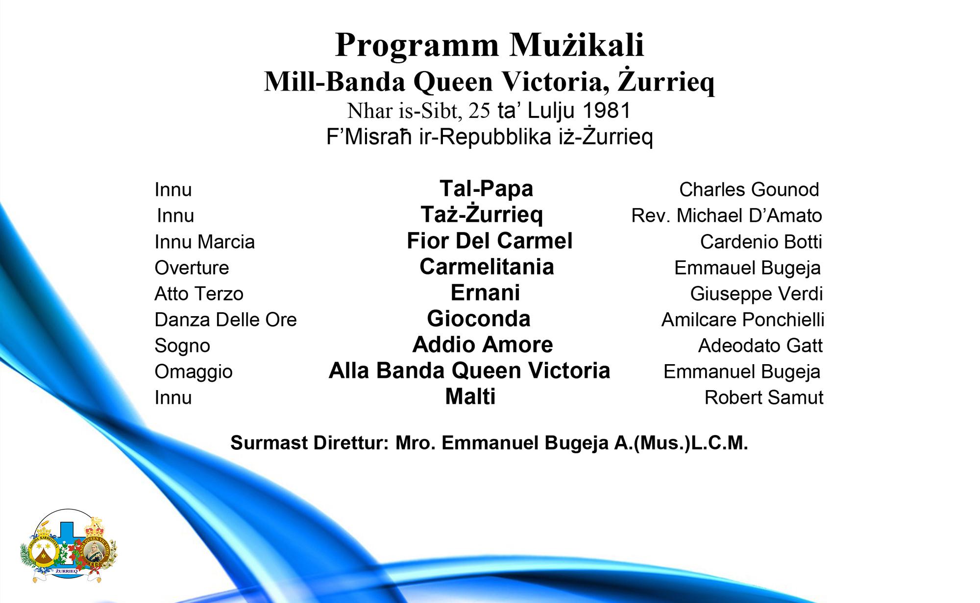 1981 Programm Strumentali