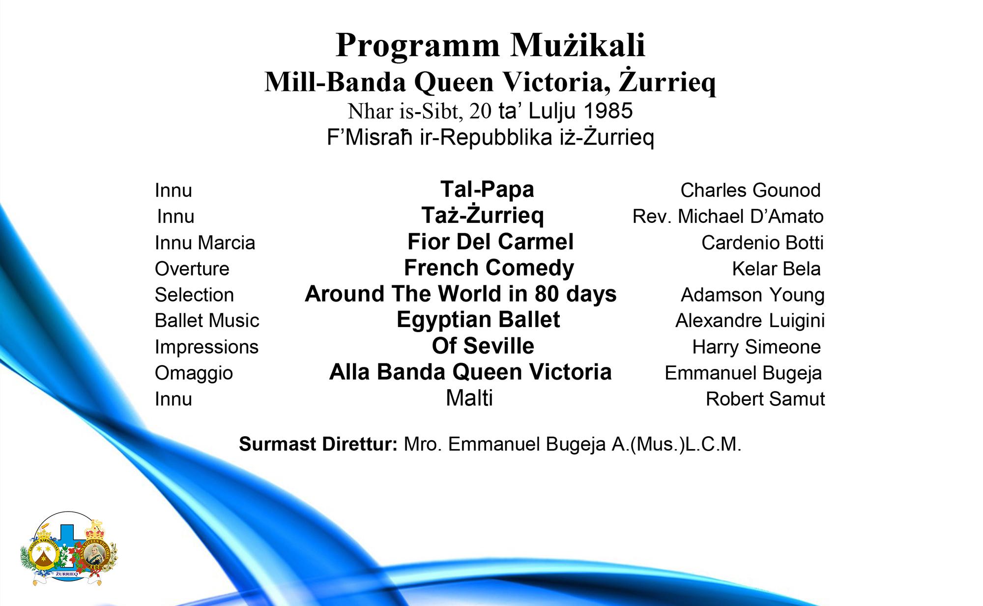 1985 Programm Strumentali
