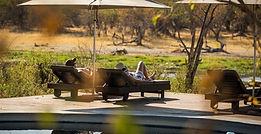 Traditional style camp in the game-rich Khwai area, Okavango Delta, Botswana.