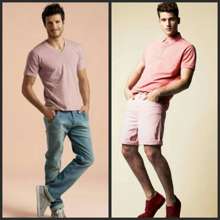homem de rosa grid