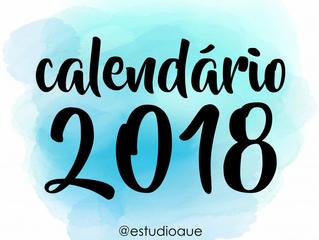 Calendário + Planner 2018