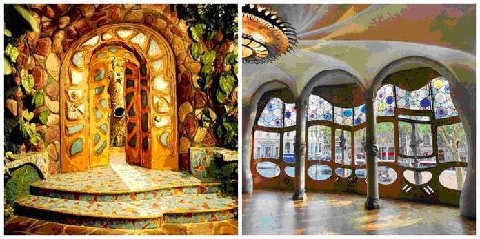 Casa Batlló do Gaudí (à dir.) que serviu de inspiração para as esquadrias do Castelo Rá-tim-bum (à esq.) Foto: TV Cultura/Reprodução e Casa Batlló/Reprodução disponíveis no site da Gazeta do Povo