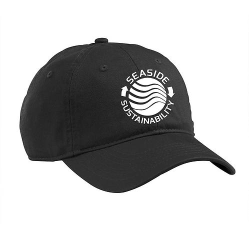 Baseball Hat White Logo