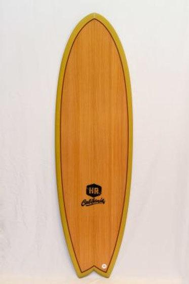 SURFBOARD HR CALIFORNIA RETRO FISH - BROWN/MUSTARD