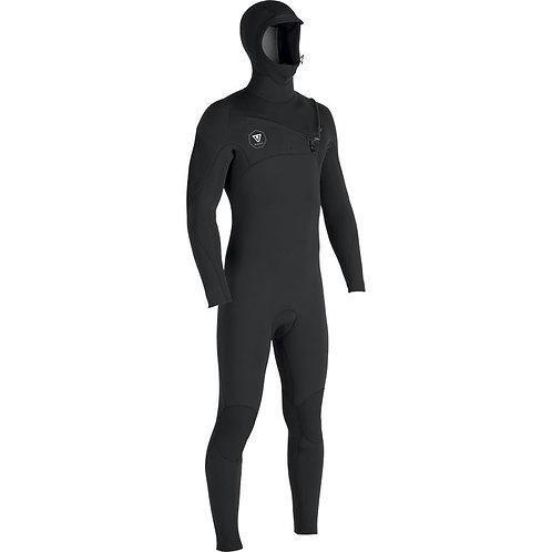 Vissla 7 Seas 4.3 mm Hooded - Black With Jade