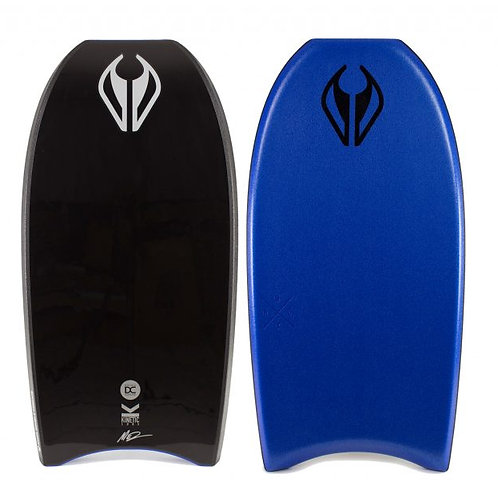 Bodyboard NMDK Doble Concave, Trident Triple Stringer System Black – Dark Metall