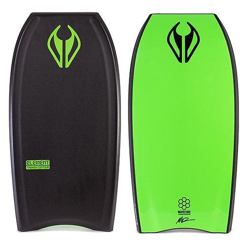 Bodyboard NMD Mini Element Black – Fluro Green –