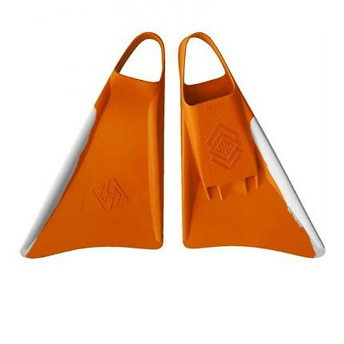 Aletas de Bodyboard Air Hubb Swim fins Punta Redonda Orange / White