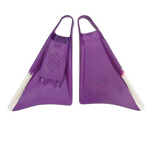 Aletas Air Hubb Swim fins Punta Redonda Purpura / White