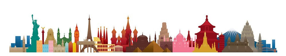 world-skyline-landmarks-silhouette-in-co